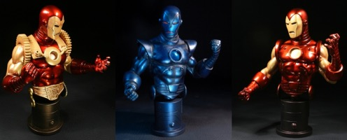 Bowen Designs Iron Man  3 Pack Mini Busts Set - Primary