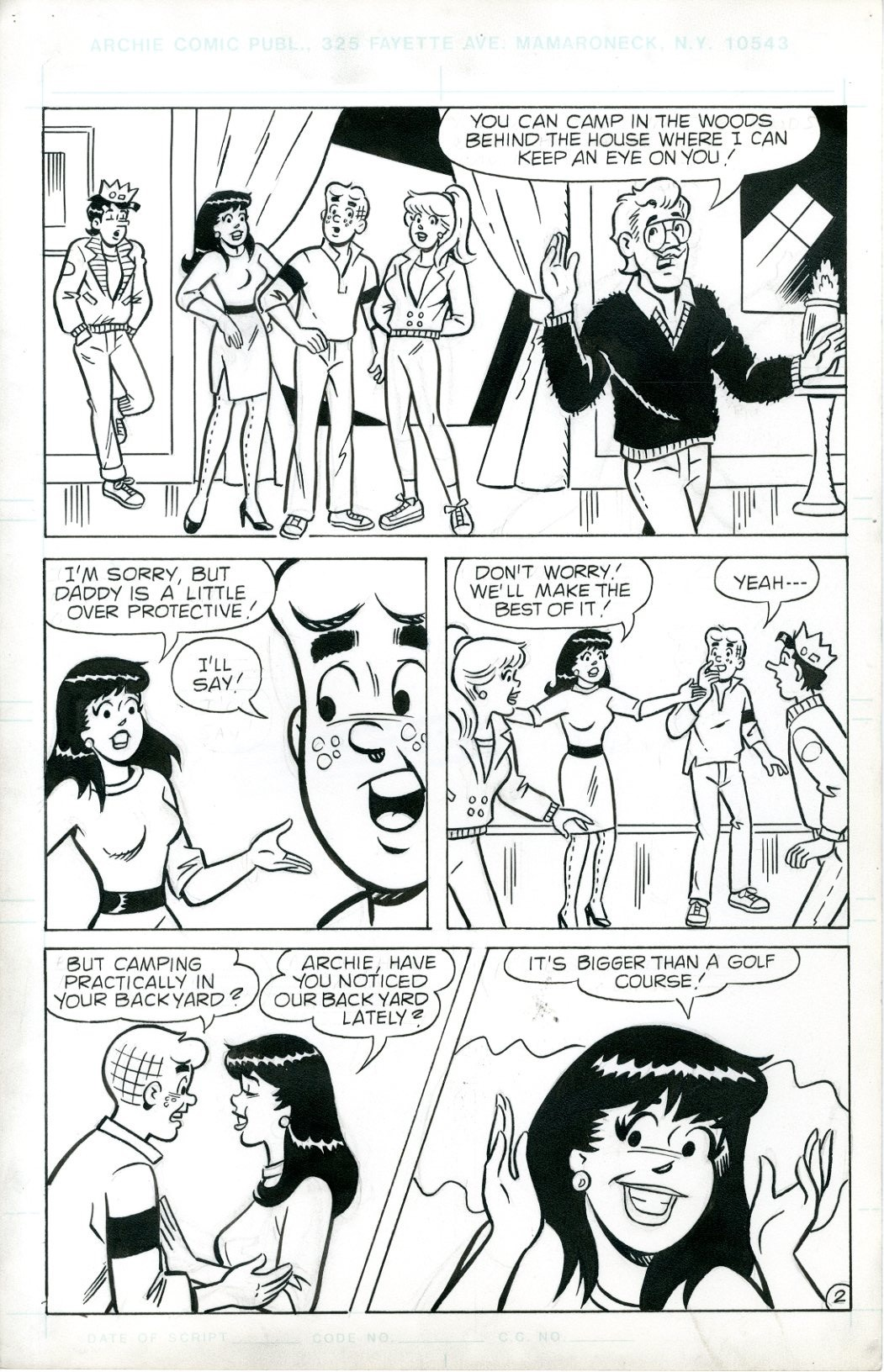 Archie Digest  6 Page Story - 3539