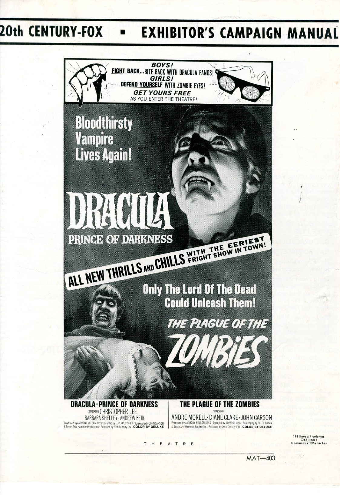 Dracula Price Of Darkness 1966 - Primary