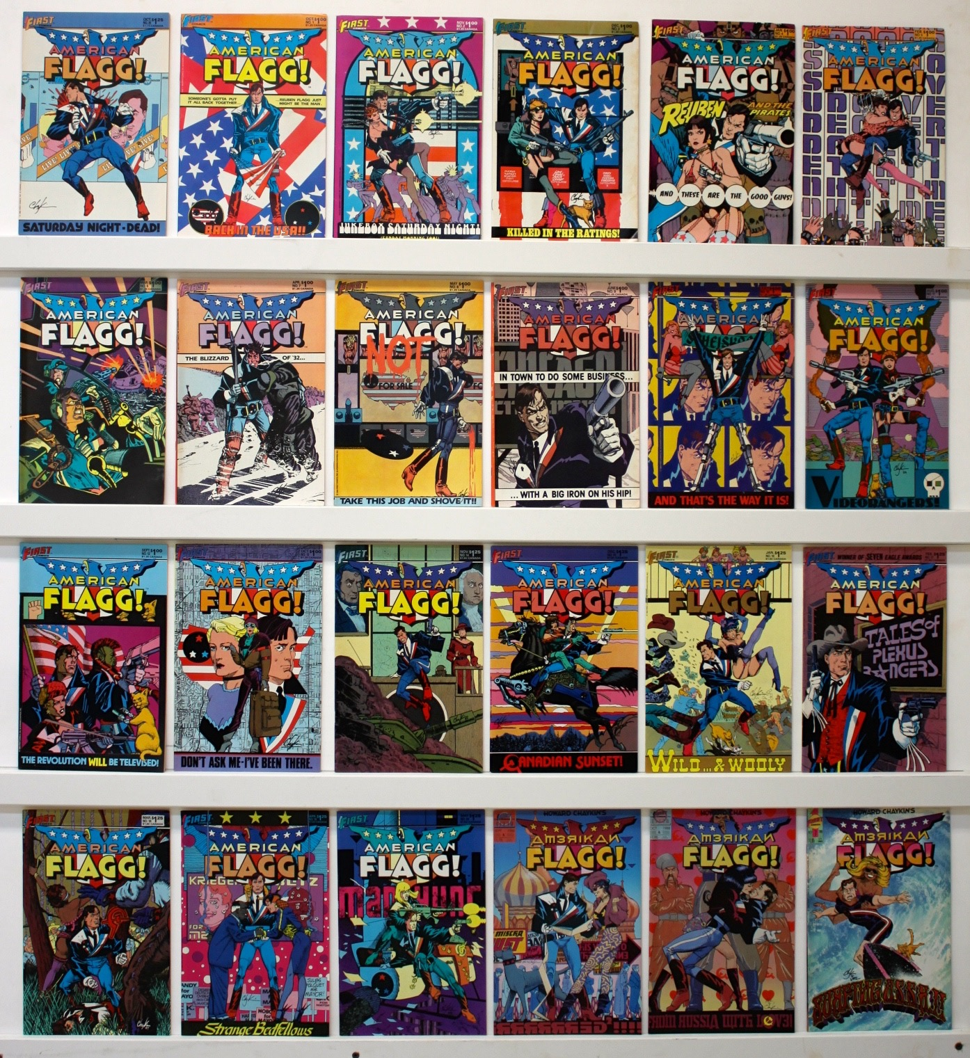 American Flagg     Lot Of 53 Comics  - 14065