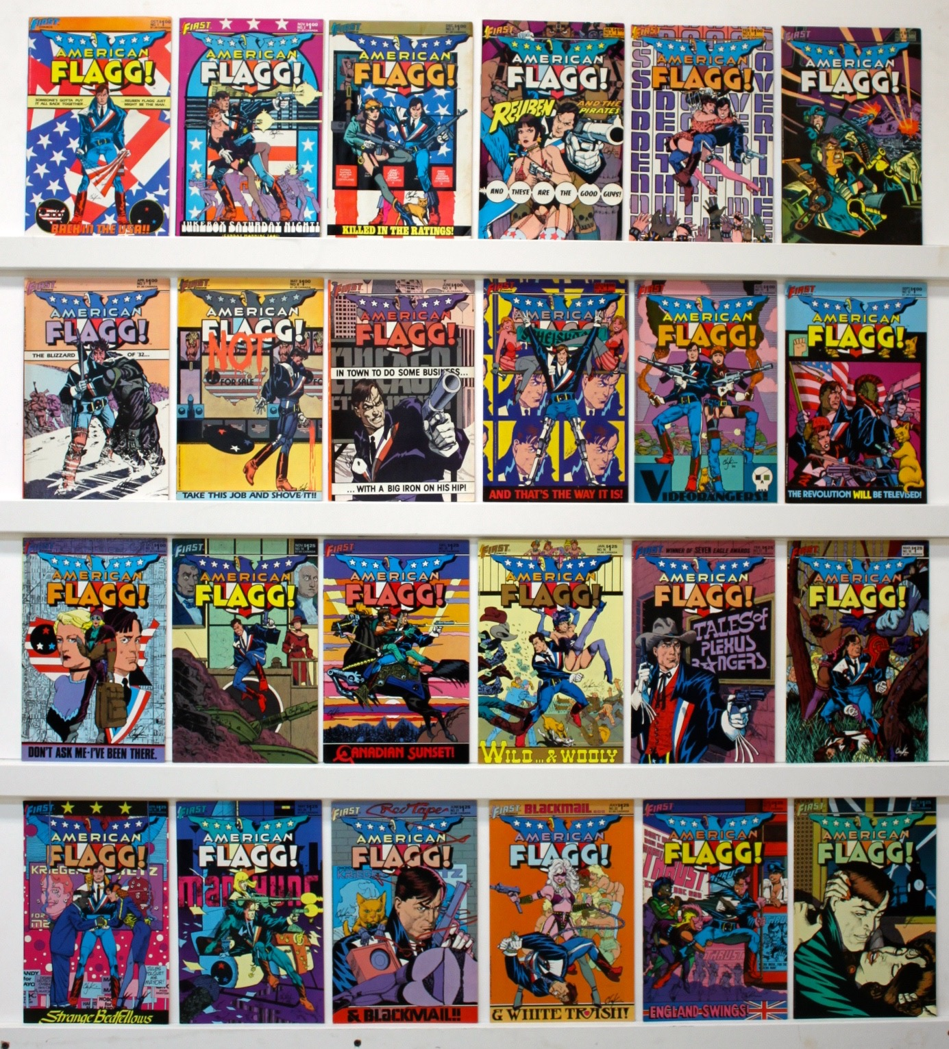 American Flagg     Lot Of 53 Comics  - Primary