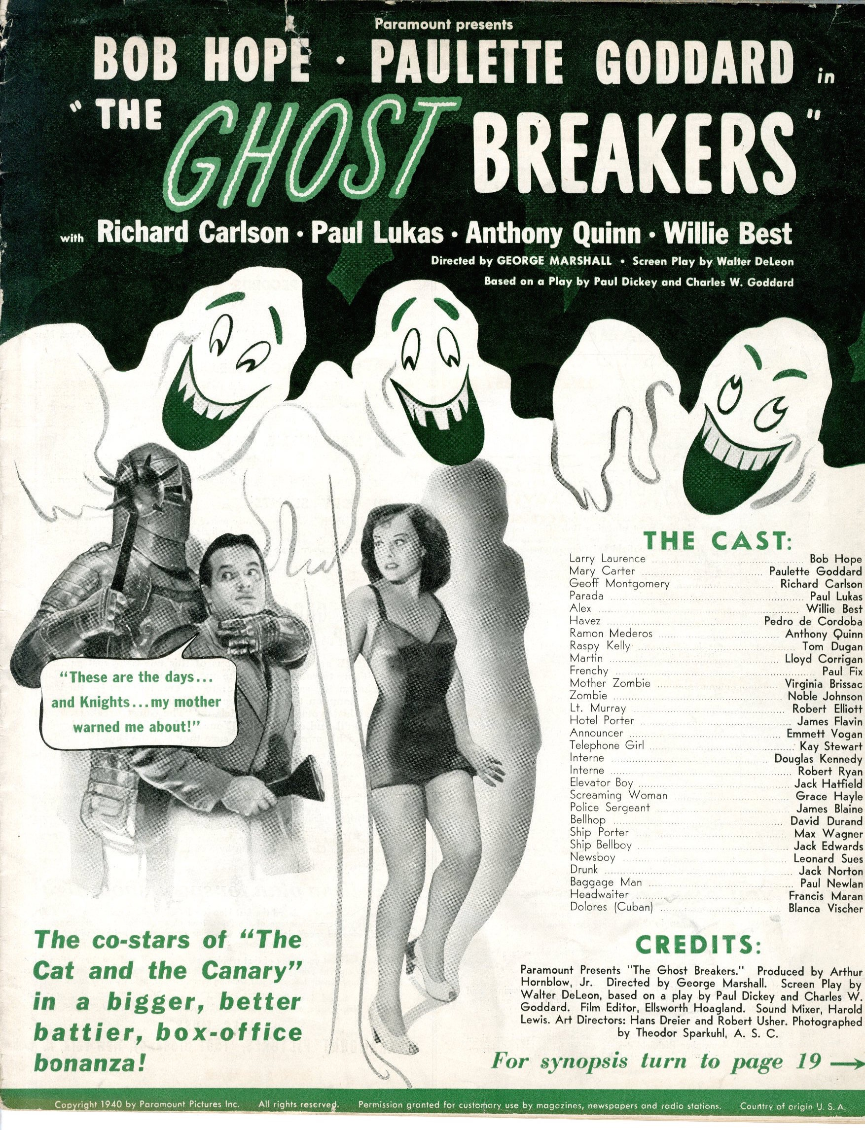 Ghost Breakers 1940   Press Book - Primary