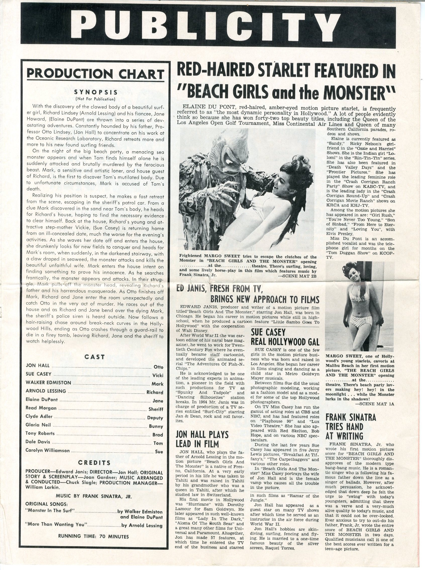 The Beach Girls And The Monster 1965 - 15319