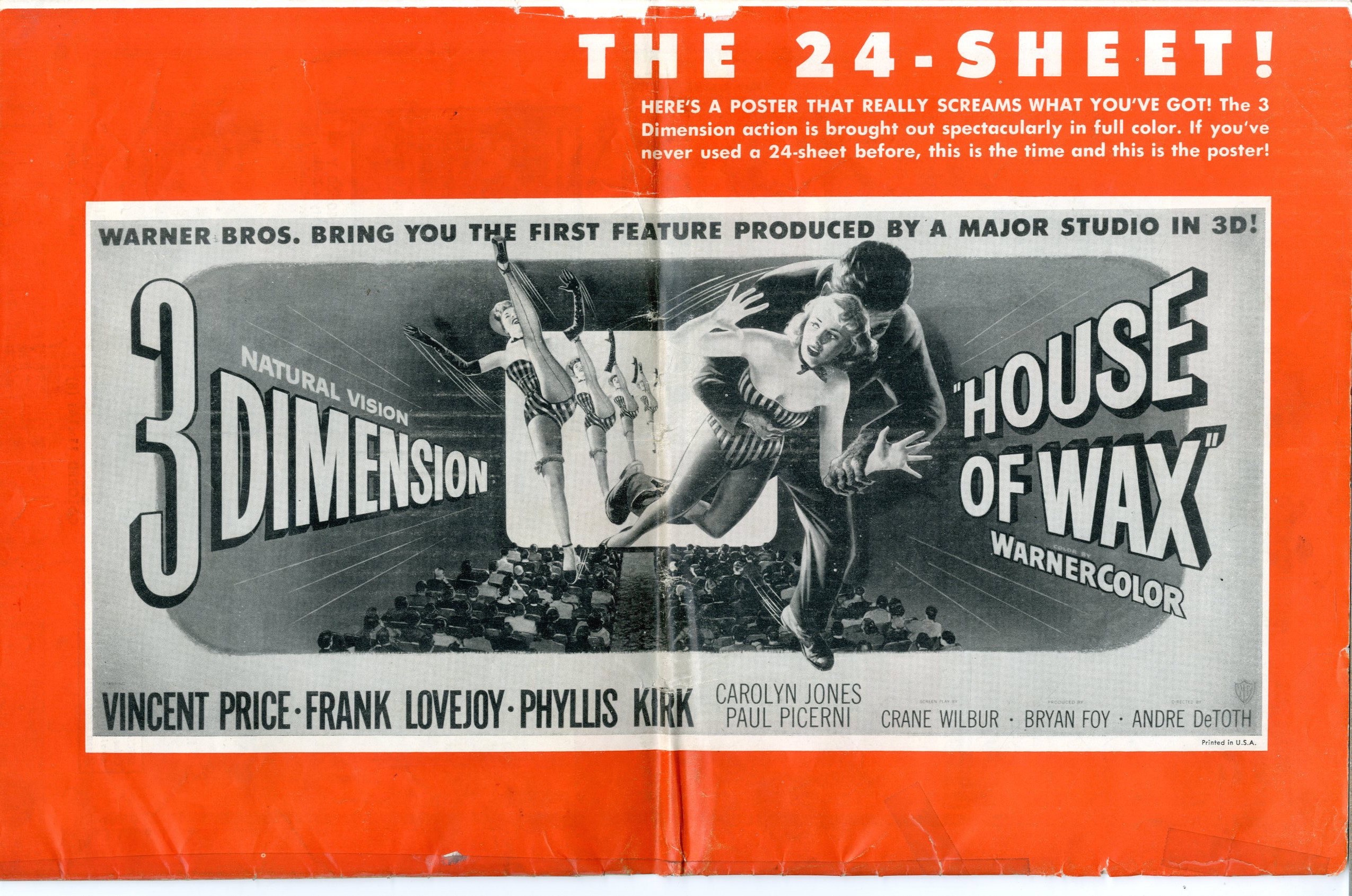 House Of Wax Pressbook - 15326