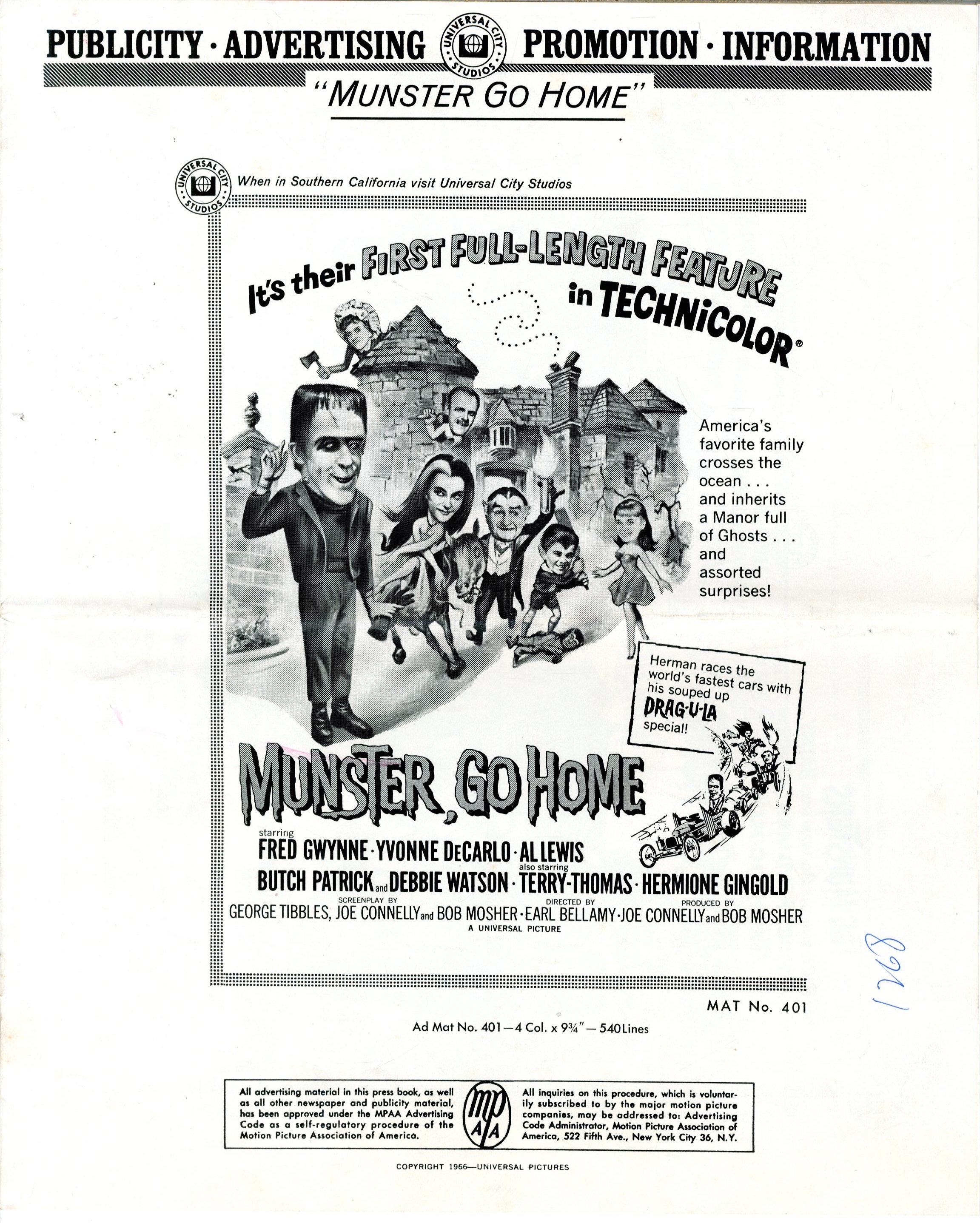 Munster Go Home 1966 - Primary