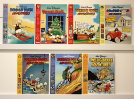 Walt Disney's Donald Duck Adventues & Uncle Scrooge   Lot Of 7 Oversized Books - Primary