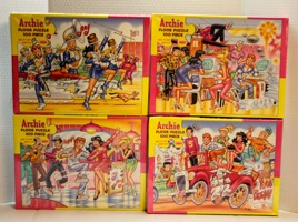 Archie Puzzles 4 Floor Puzzles 100 Pieces Each - Primary