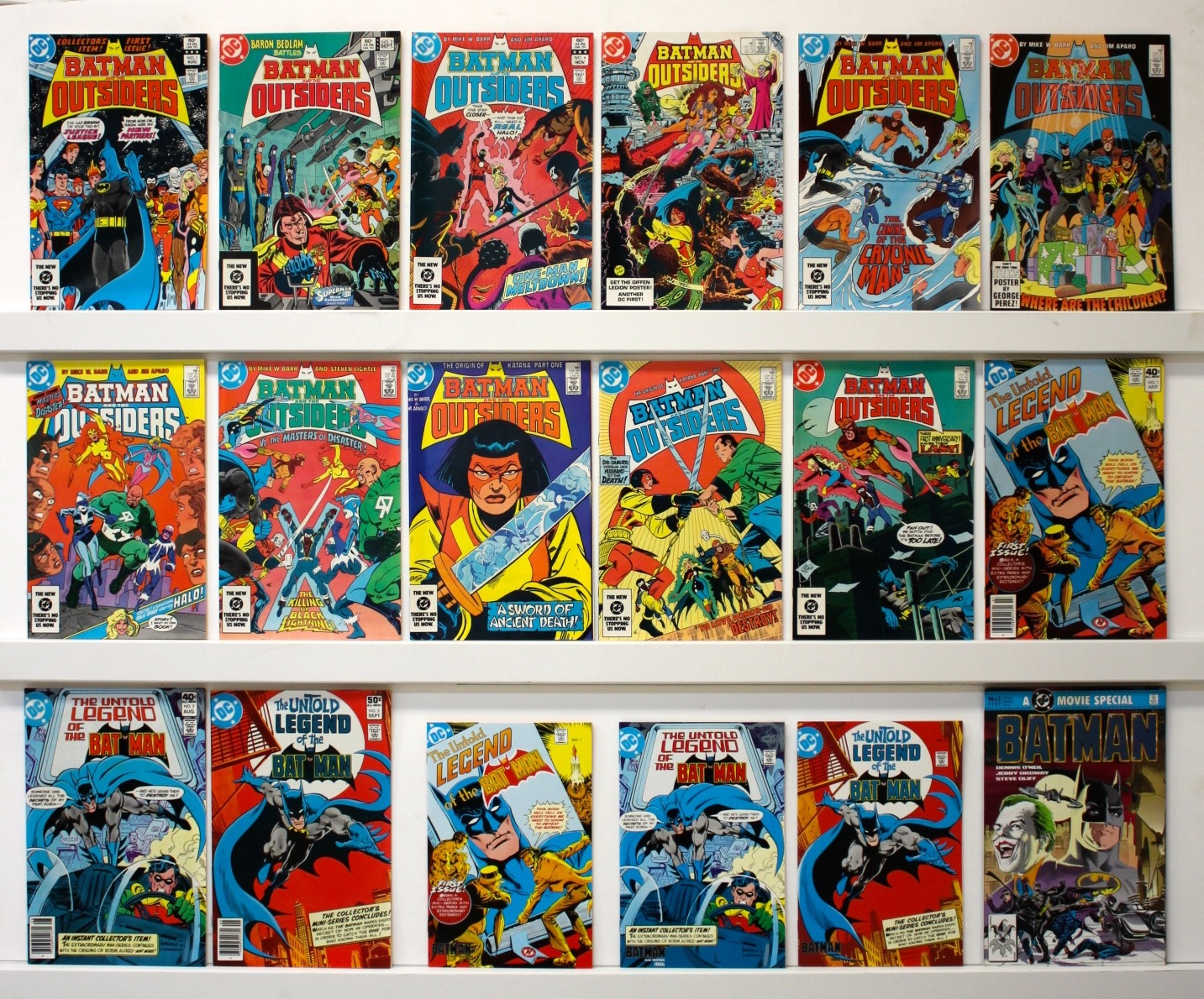 Batman And The Outsiders   Lot Of 18 Comics - Primary