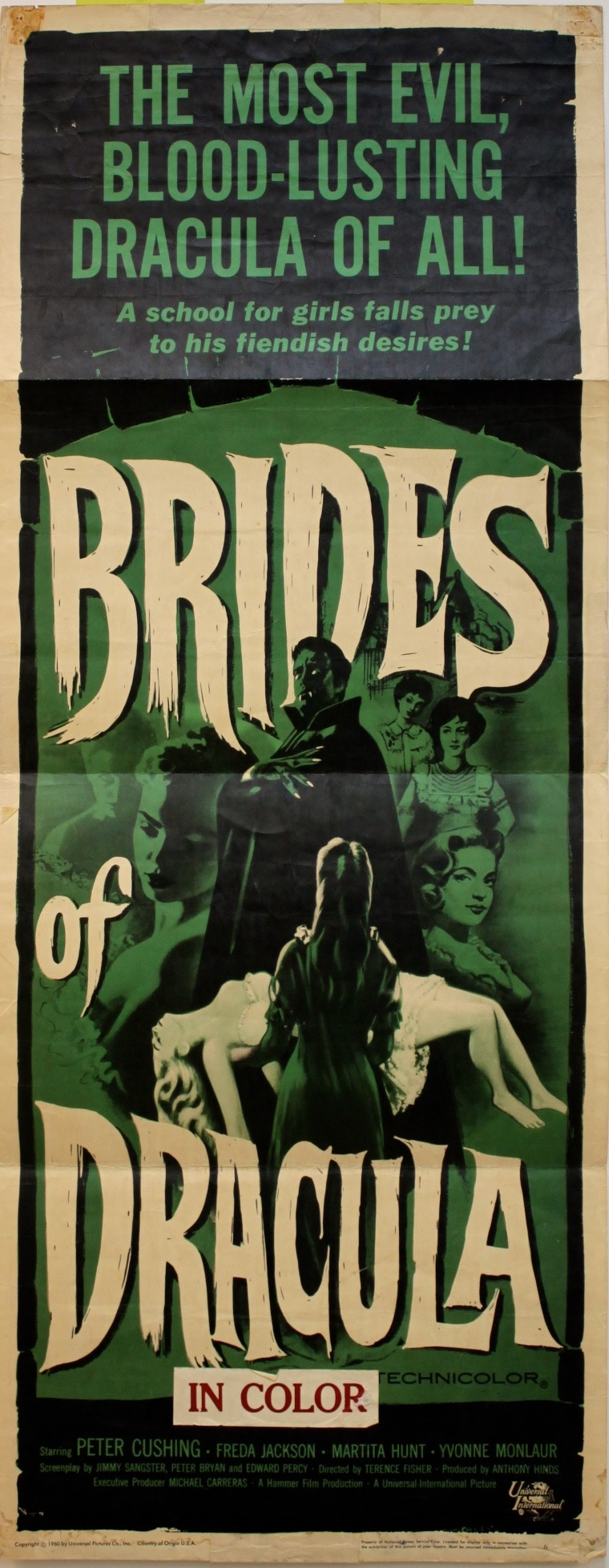 Brides Of Dracula   1960  Insert - Primary