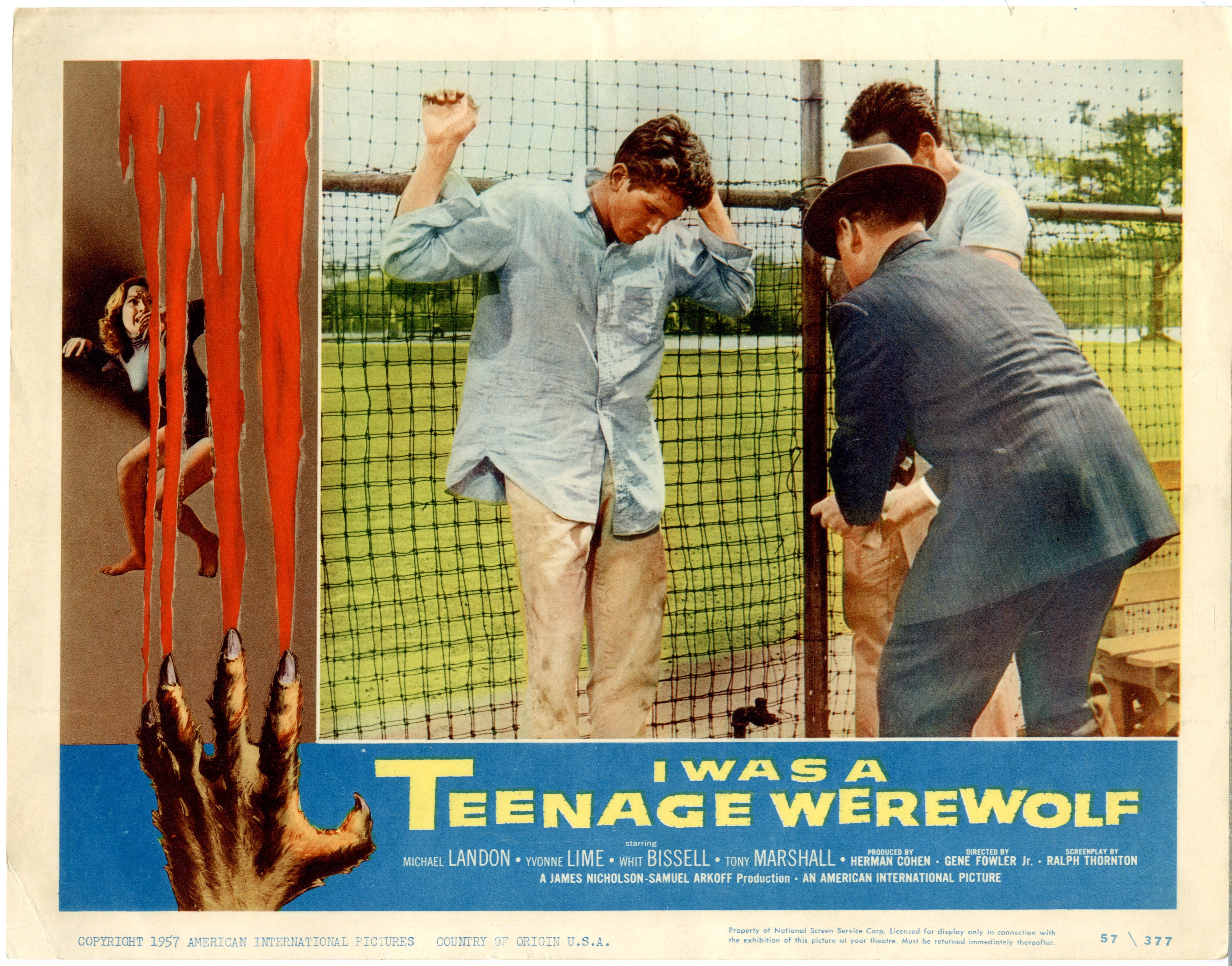 I Was A Teenage Werewolf   1957 - 22050